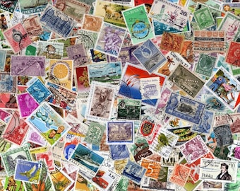 FREE UK POSTAGE 200 unchecked old and recent randomly selected postage stamps