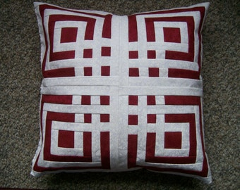 12 Inch pillow with Lovers knot design