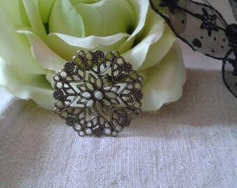 set of 5 bronze floral prints