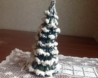 Decorative Christmas tree with snow on branches!