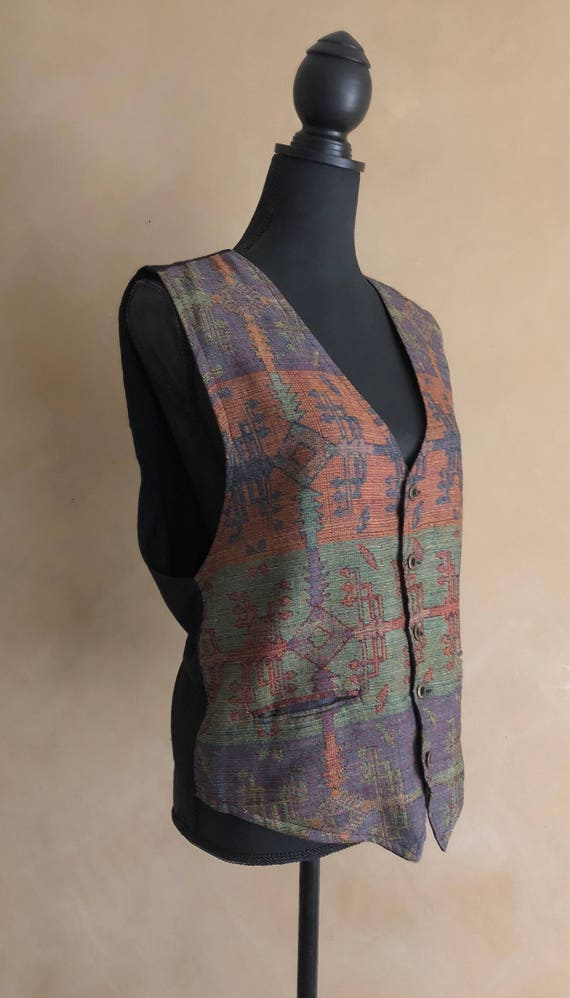 Vintage Cotton Woven Vest - made in India - Paragraff Clothing CO - Southwestern Print