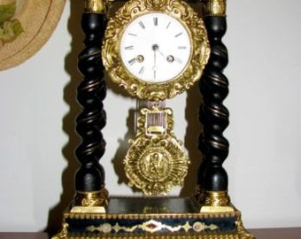 Unique French Empire Pillar Clock c.1830