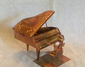 Music Box - Metal Art Sculpture - Piano Man - The Entertainer