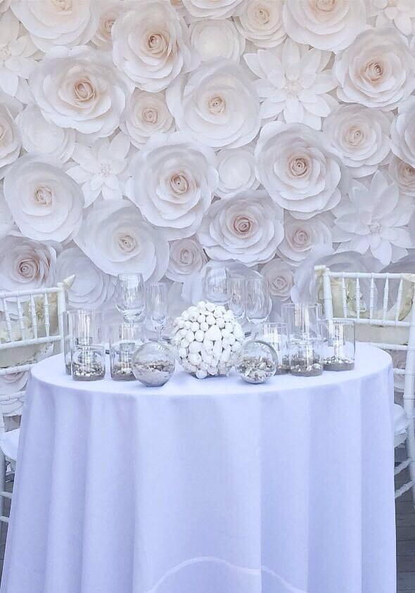 Large paper flowers wedding backdrop paper flower backdrop zoom mightylinksfo