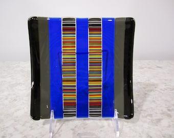 Black/blue/rainbow Square Dish