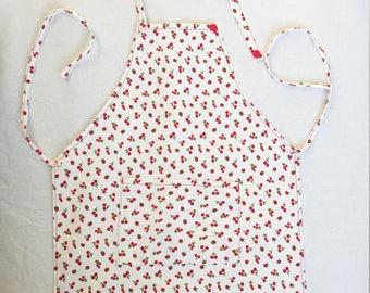 Red cotton pique apron