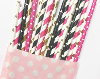Bachelorette straw mix//paper straws, party decorations, party supplies, wedding, birthday party, bachelorette party, straws