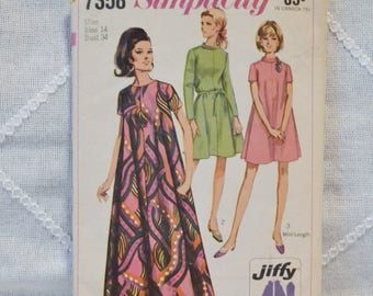 Vintage Simplicity 7358 Sewing Pattern Misses Dress Size 14 Crafts  DIY Sewing Crafts PanchosPorch