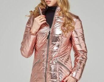 Metallic Pink Jacket K-63