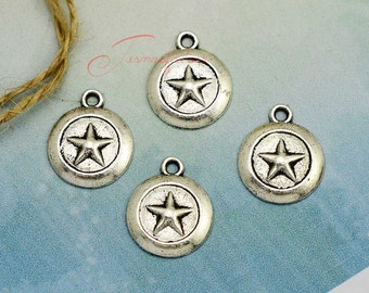 30PCS--20x16mm ,Star Charms, Antique Silver Star Charm pendant, DIY supplies,Jewelry Making