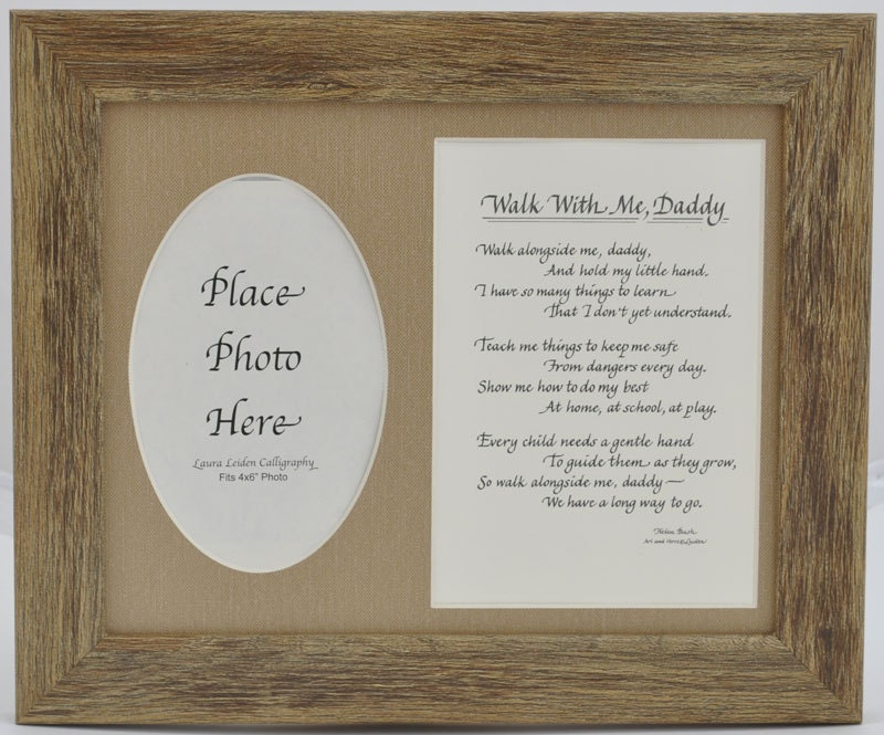 Walk with me Daddy Frame 8x10 Dad Gift from Child Son