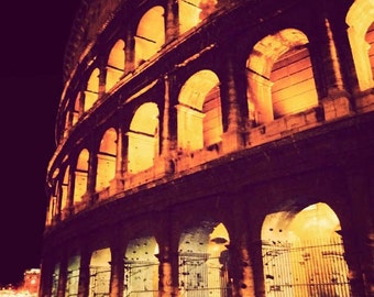 Clearance Sale - Rome photograph, travel photography, fine art photo, Colosseum, Italy architecture -  All Roads Lead to Rome