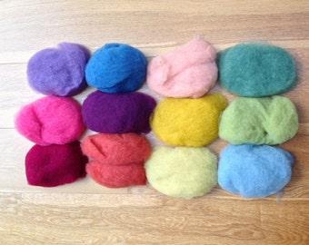 Organic Merino Felting Wool. Plant Dyed. For Wet Felting and Crafts 100g.