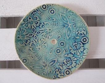 turquoise soap dish, ceramic soap dish, blue soap dish, soap dish handmade, handmade pottery, turquoise pottery, soap plate, soap holder
