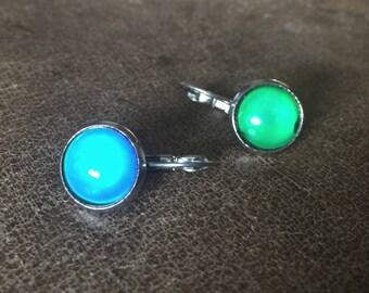 Mood Earrings, Mood Jewelry, Post Earrings, Sensitive Skin, Hypo-Allergenic, Silver Earrings, Hippy Earrings, Boho Jewelry, Blue Earrings