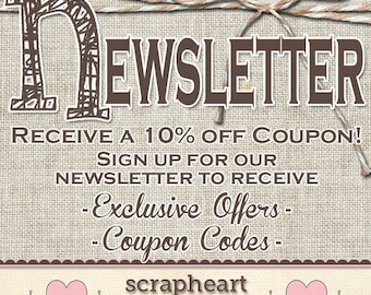 COUPON CODE for 10% Off of Your Order!! -*-*- Sign Up For Our Newsletter and Receive a Coupon Code! -*-*-