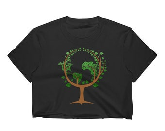 Happy Earth Day 2018 Women's Crop Top, Earth Day April 22nd Top Crop Shirt