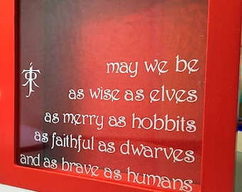 Tolkien Quote Shadow Box Style Bank