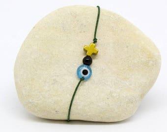 Minimalist mixed cord - Irini bracelet