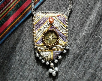 Handmade GYPSY necklace***feelgood jewelry***Amulet**Chinese coin