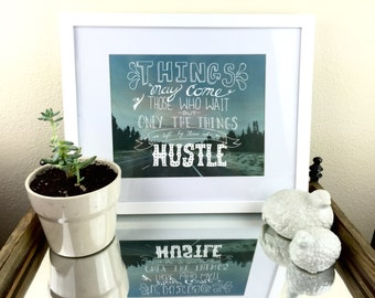 Hand-Lettered Abraham Lincoln Quote Over an Original Photograph