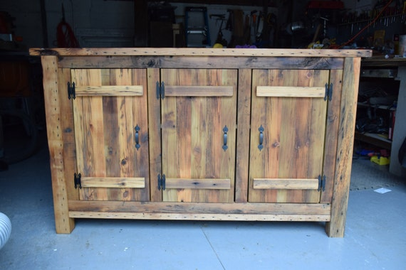 Farmhouse Foyer Xl : Reclaimed wood rustic buffet farmhouse table entryway