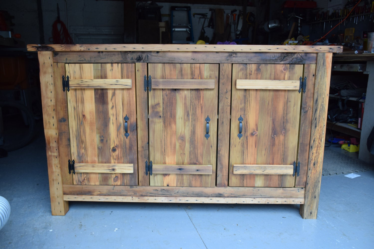 Reclaimed Wood Rustic Buffet Farmhouse Table Entryway