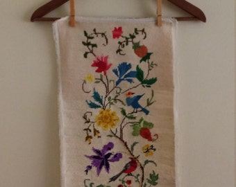 Vintage Hand Embroidered Textile