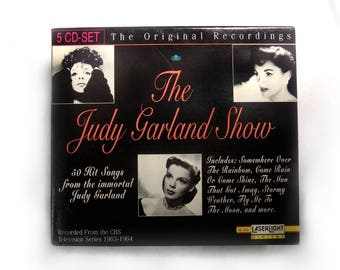 Judy Garland music - collectible Judy Garland - Vintage Judy Garland - Judy Garland show - CD music set - 5 CD -CBS Series 1963-64 - # 60