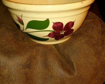 Antique Watt ware farmers elevator bowl from Kimball Minnesota vintage stoneware SALE