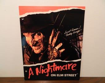 1989 Freddy Krueger Nightmare On Elm Street Folder Vintage Horror