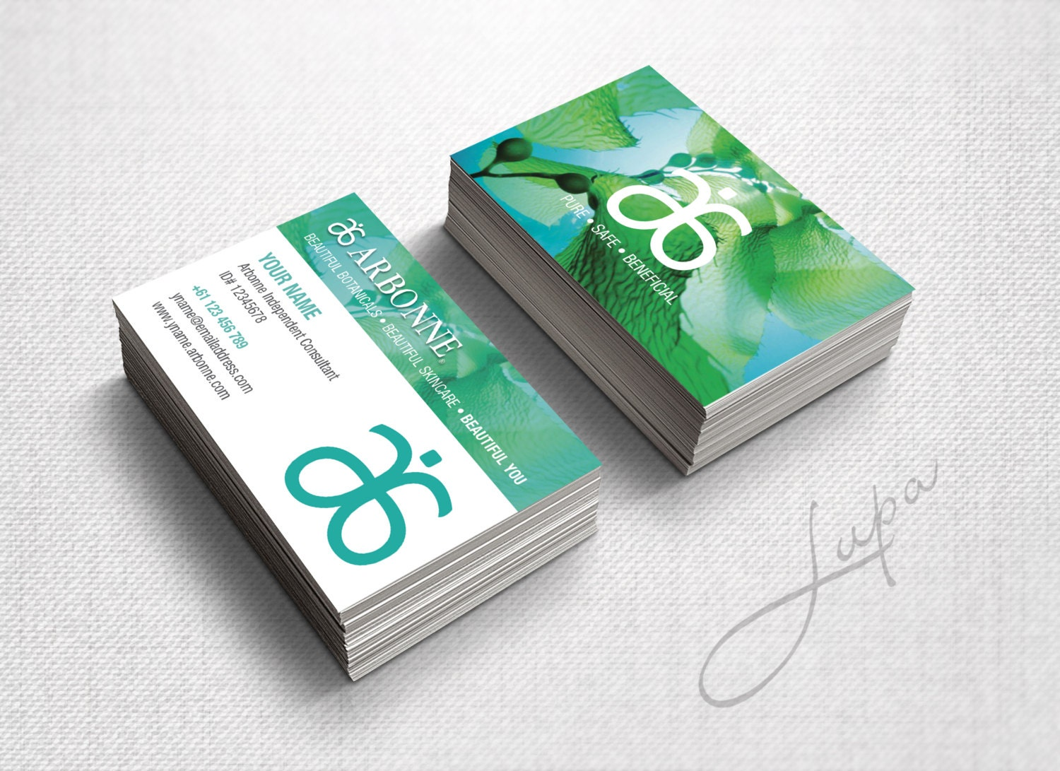 Arbonne Business Cards 13 digital files supplied only