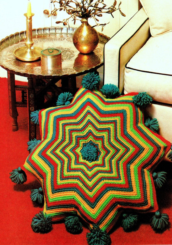 INSTANT DOWNLOAD PDF Vintage Crochet Pattern Moroccan Kasbah Pillow ...