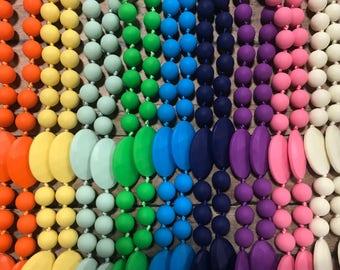Teething Necklace - Silicone Teething - Nursing Necklace - BPA free - Teething Baby - Nursing Mom - Ready to Ship - Choose Color