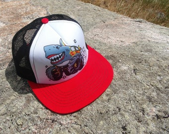 Sharkie the Monster Truck- Kids Trucker Hat. Inspired by Youth and Designed in Colorado!