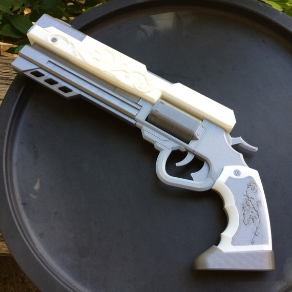 3d Gun Image 3d Home Architect: James Ironwood's Revolver From RWBY 3D Printed