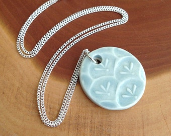 Morning Garden Porcelain Pendant