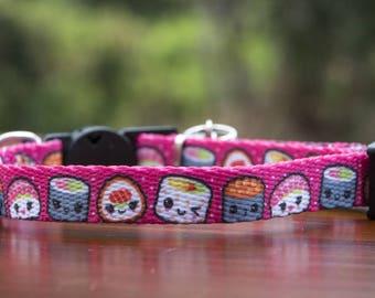 Pink Sushi Cat Collar