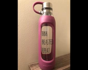Personalized Breastfeeding Glass Water Bottle