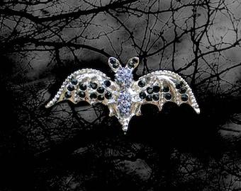 50% SALE Halloween Jewelry..Bat Costume..Bat Wings..Bat Jewelry..Bat Pin..Bat Brooch..Vampire Costume..Vampire Pin..Vampire Cape Accessory
