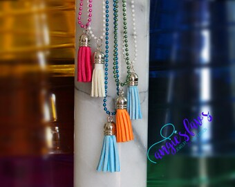 Ball Chain Necklaces, Tassels, Fringe