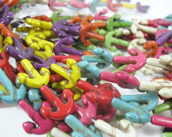 15mm Howlite Anchor Beads set of 8
