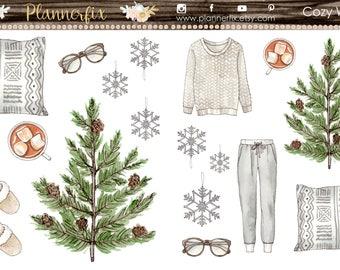 Cozy Winter. Stickers