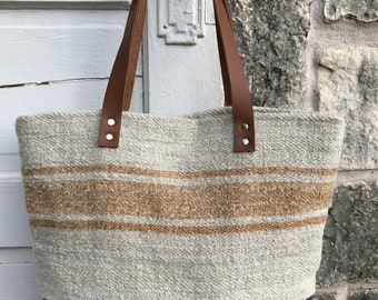 Antique Grain Sack Tote