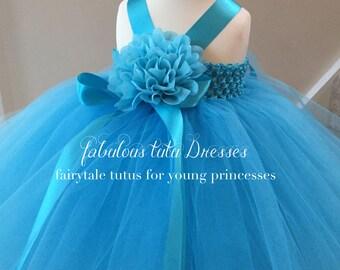 Aqua Blue Baby Tutu Dress.