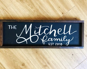 Framed Personalized Family Sign