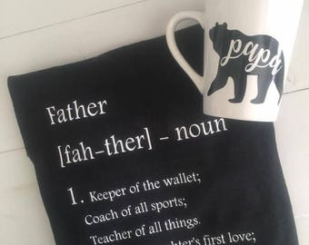 Father definition shirt + Papa bear Mug