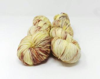 Custard Doughnut - 4ply Elegant Sock hand dyed yarn – Superwash Merino + Nylon 75/25
