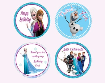 Instant Download // Printable Frozen Party Tags // Frozen Party Favors // Frozen Party Labels //Frozen Cupcake Toppers // Do It Yourself
