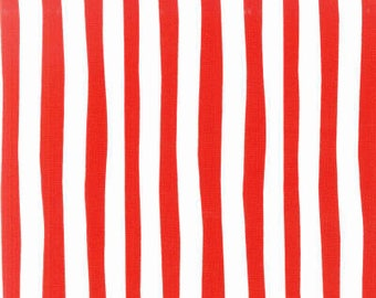 Robert Kaufman Celebrate Seuss Red/White Stripe  10792-3